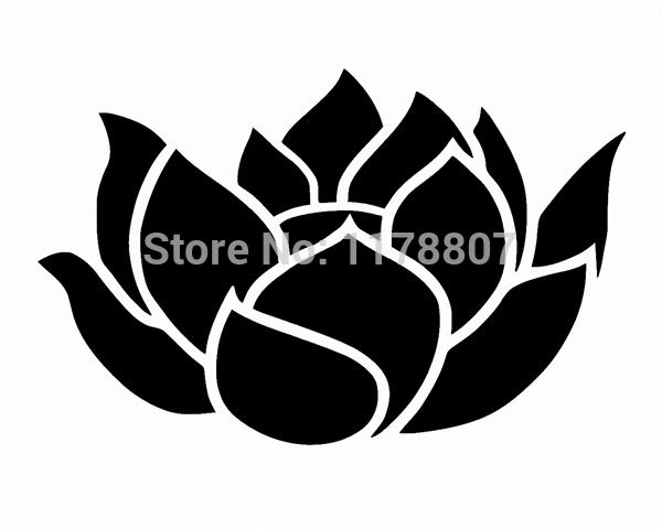 Lotus Flower Cute Girly Car Window Truck SUV Bumper Auto Door Die Cut Vinyl Decal Laptop Kayak Canoe Art Wall Sticker 10 Colors(China (Mainland))