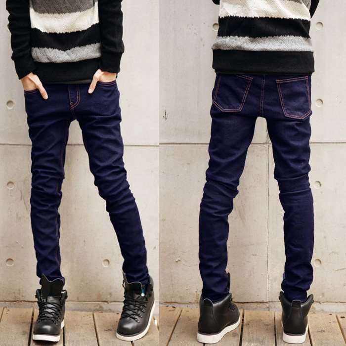 Men's clothing base 2014 slim male water wash jeans denim trousers big brand men skinny pants fashion - store