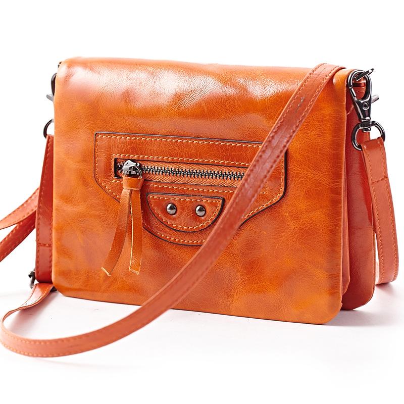 Retro Brown Patent Leather Bag Women Messenger Bags Designer Small Motorcycle Clutch Ladies Purses Damen Handtaschen Tassen(China (Mainland))