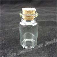 Wholesale Hot  Portable Cylindrical Wishing bottle Transparent Glass Box  Jewelry Storage Box  Makeup  Jewelry Box