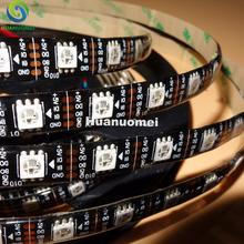 Buy Addressable 4m 60LEDs/m DC5V WS2813 RGB full color led pixel strip,waterproof silicon coating;IP65;with 60pixels/M;BLACK PCB for $26.32 in AliExpress store
