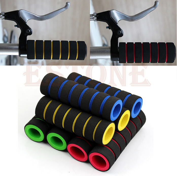 1 Pair Sponge Soft Foam Nonslip Motorcycle Bicycle Handle Bar Colorful Super Useful GM254(China (Mainland))