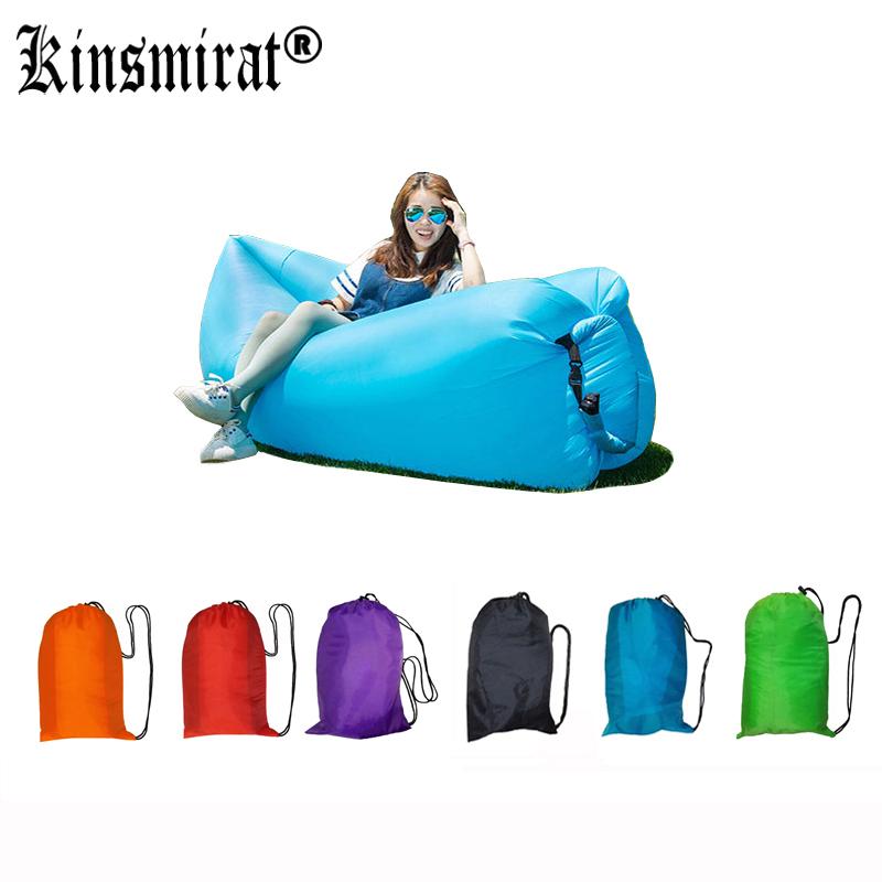 Banana Sleeping Lazy Lay Bag Nylon laybag Air Bed chair Couch Lounger Saco de dormir Fast Inflatable Camping Sofa(China (Mainland))