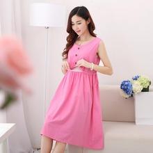 New mode vêtements d'allaitement femmes enceintes robe d'été de maternité allaitement lâche coton robe d'allaitement(China (Mainland))