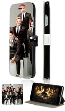 exo fashion hybrid retail 5designs Hot selling mobile phone bagcard wallet leather cases for IPHONE4 4S free shipping