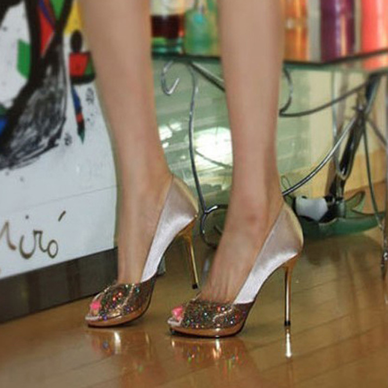 2015 bridal high heeled shoes womens wedding shoes