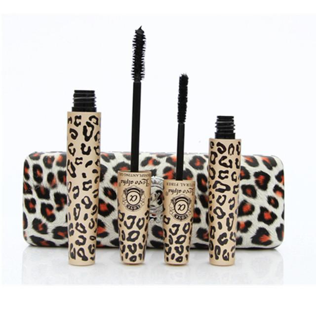 6sets/lot Hot Love Alpha 3d FIBER LASHES Mascara rimel makeup set maquiagem Wild Leopard waterproof double mascara GI5061