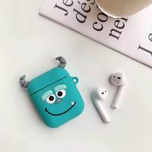 luxury supre cute 3D mickey minne mouse bear rabbit silicone Buttons Headphone Earphone Case For Apple Airpods Accessories cover(China)