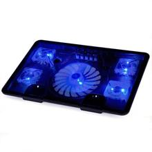 Beautiful Gitf New USB 5 Fan Port Cooling Cooler Pad for Laptops Notebook With LED Light Free Shipping Jan28