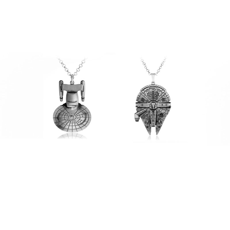 Star Wars Series Accessories Spacecraft Alloy Pendant Necklace With High Quality Gift For Fans Movie Jewelry Factory Direct Sale(China (Mainland))