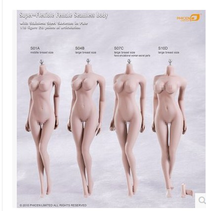 Phicen S01A S04B S07C S10D / Super-Flexible Seamless Body With Stainless Steel Skeleton In STOCK<br><br>Aliexpress