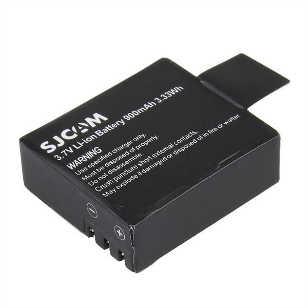 New 3 7V 900mAh Li ion for All SJcam SJ4000 SJ500 SJ5000 plusM10 Backup Rechargable Battery
