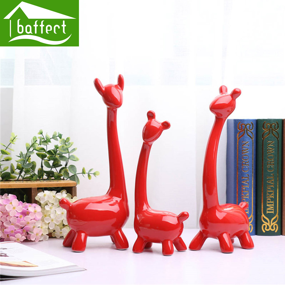 Set red 3 pcs couple modern creative gift for mother's day personalized home ornaments ceramic modern home Decoration Series(China (Mainland))