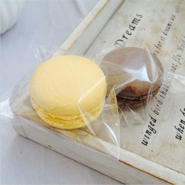 200pcs/lot, clear plastic bags samll cookie packaging bags 7x7cm cupcake wrapper free shipping(China (Mainland))