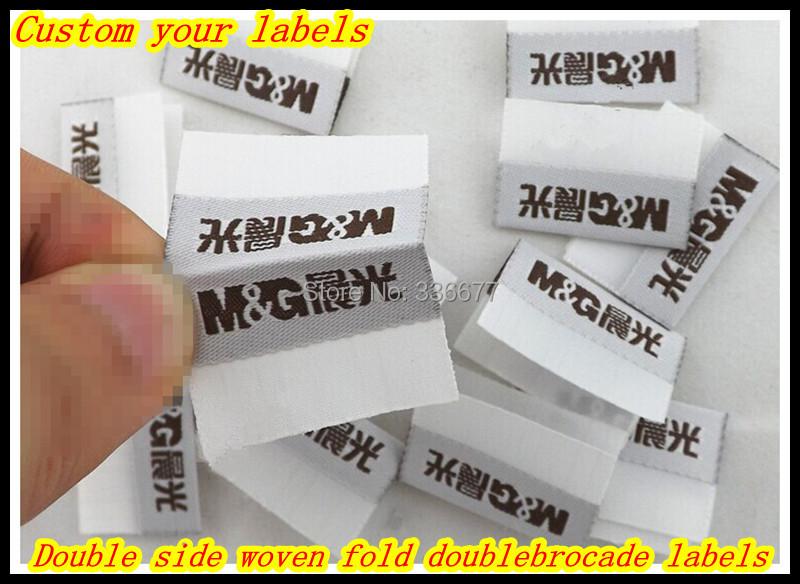 Free shipping Custom woven label garment Jacket/Dress fold labels weave customized shirt labels trade mark brand QR-1441(China (Mainland))
