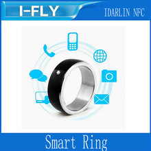 Original Modern Black + Silver Multifunction Smart Ring for All Android and Windows NFC Mobiles Smart Cell Phone(China (Mainland))