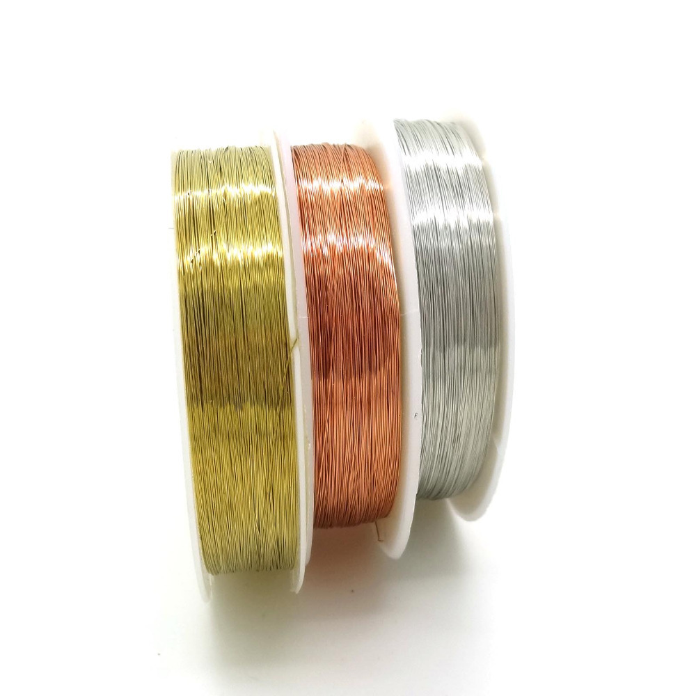 Wholesale 3Pcs Multicolor Rose Gold/Silver/Gold Copper Wires Beading Wire DIY Jewelry Bag Clothes Findings Brass Ropes Cords(China (Mainland))