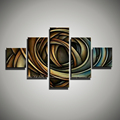 5 piece canvas wall art painting art Abstract wall pictures for living room acrylic modern colorful