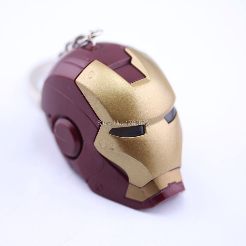 Movie Series New Design Accessories Marvel Comics The Avengers Super Hero Iron Man Head Plastic Pendant Keychain<br><br>Aliexpress
