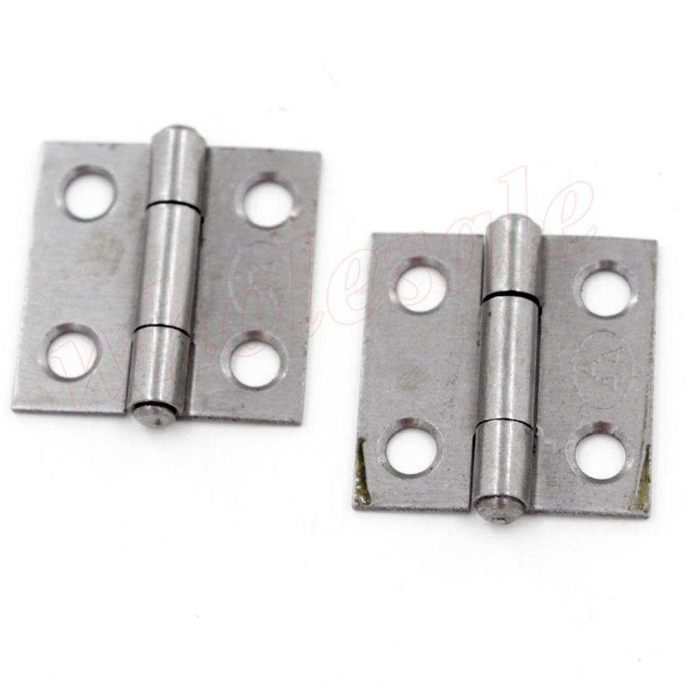 100pcs of Iron Silvery Tone 25 x 25 x 5mm  4 Holes Butt Hinge <br><br>Aliexpress