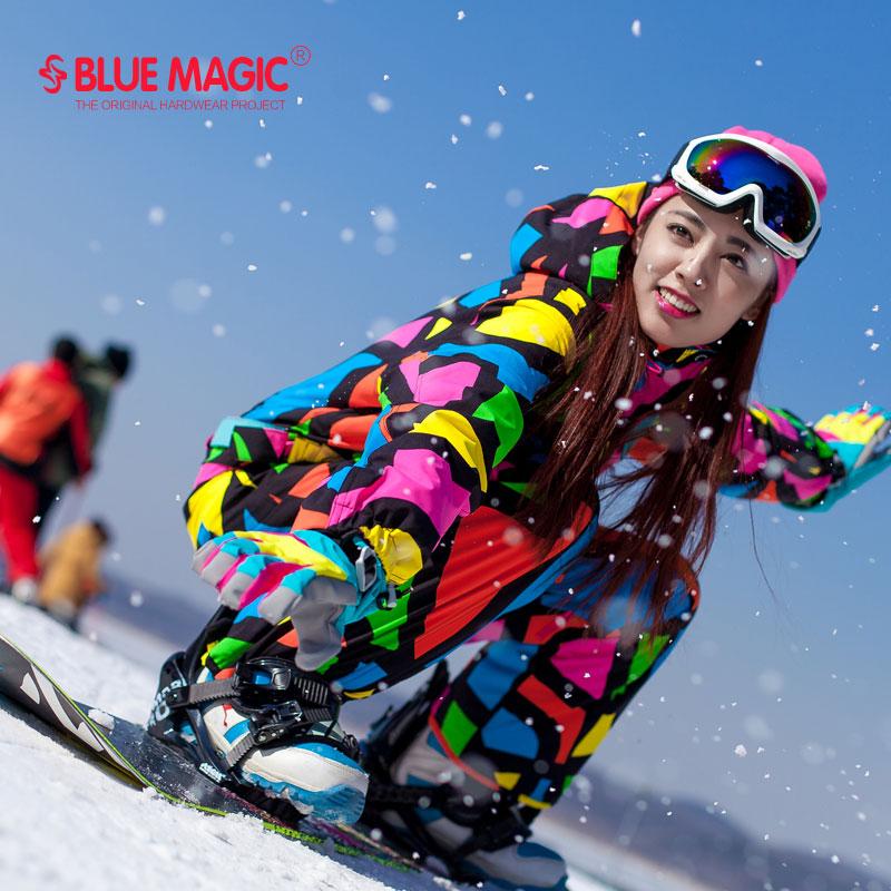 17 winter blue magic waterproof warm snowboarding one ...