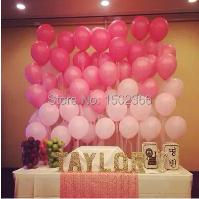 Latex Balloons 100Pcs/Lot 10''1.2g Pink Birthday Party Decorations Kids Balloons Wedding Balloons Event Party Supplies(China (Mainland))