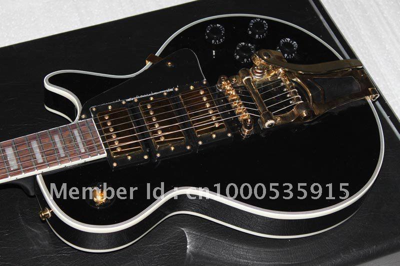 G Custom 1957 Custom 3 Pickup with Bigsby VOS Electric Guitar Black 4312(China (Mainland))