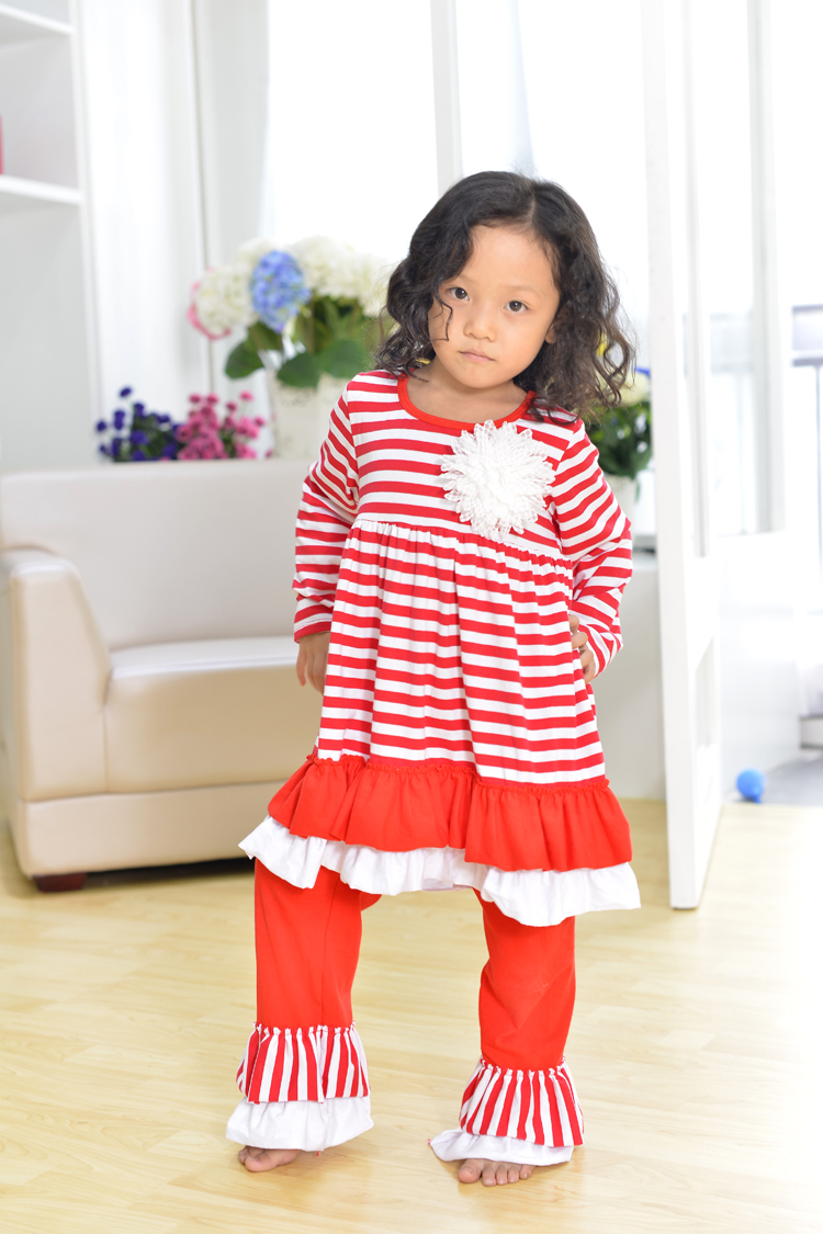 Christmas clothes girls xmas Outfit girl boutique ruffle pants long sleeve baby girl christmas ...