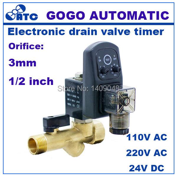 Gogo High Quality 1 2 Electric Drain Timer 24v Solenoid