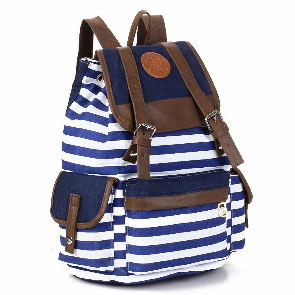IMC Striped Travel Rucksack School Bag Tracking No. & A Exclusive Gift(China (Mainland))