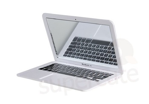 Free shipping 1pcs Macbook Air Style Portable Mirror Apple Notebook Creative Make Up Mirror white or Silver to choose HP002(China (Mainland))