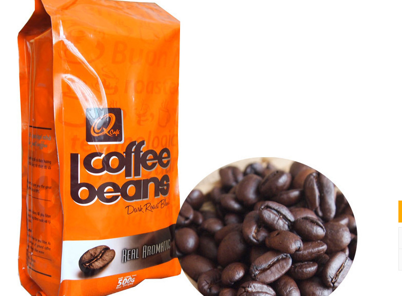 New store promotions BUY 3 GET 4 Free Shipping 500g Vietnam Q pure coffee beans healthy