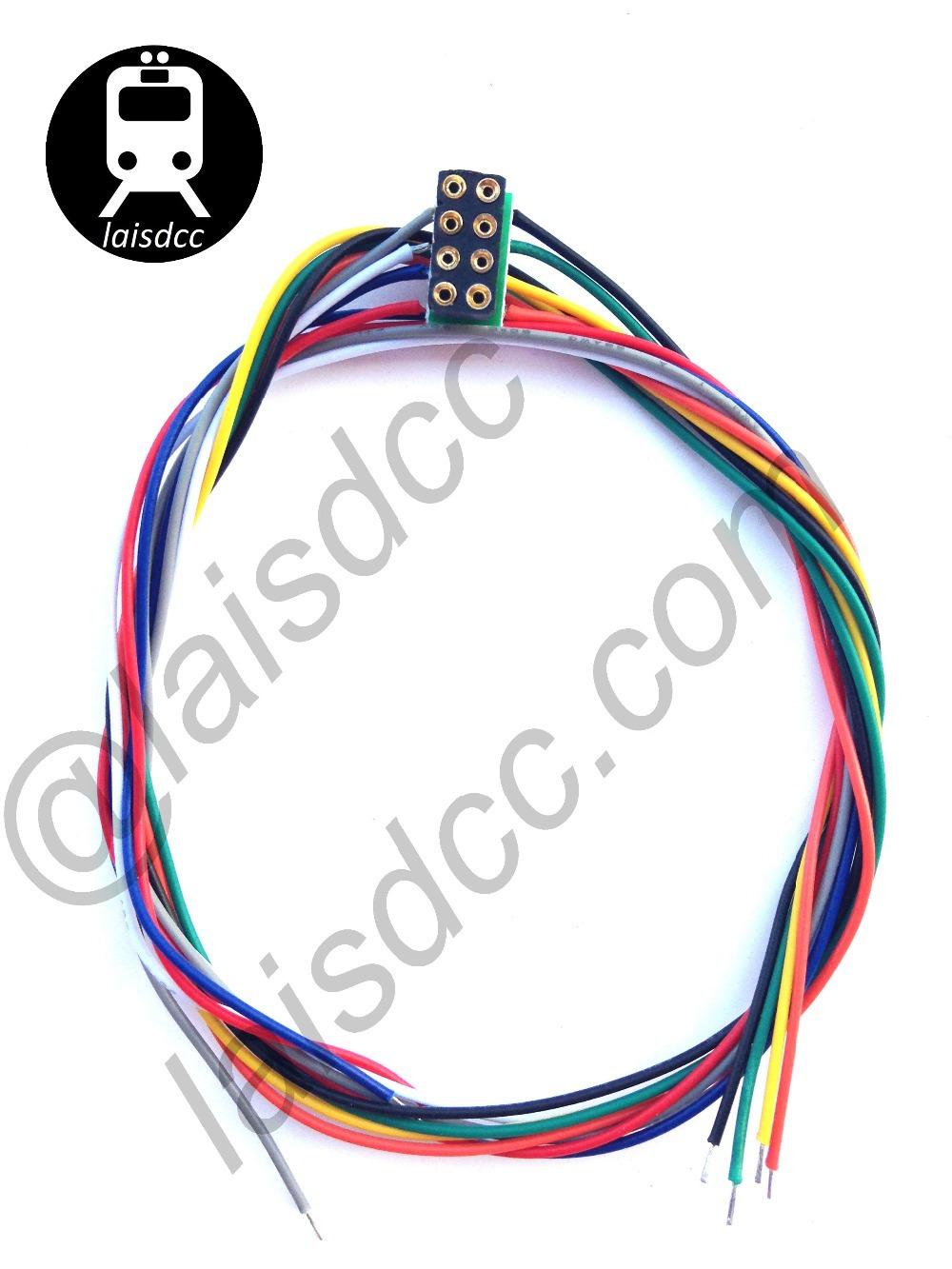 8 PIN DCC decodificador enchufes NEM 652 WITH con cable HARNESS / laisdcc(China (Mainland))