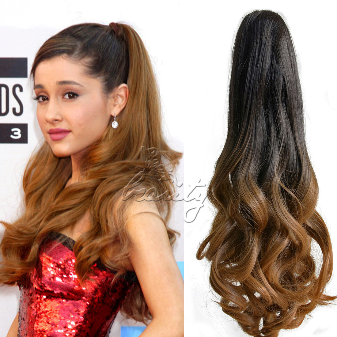 Wholesale 20 Synthetic Hair Long Wavy Claw Clip On Ponytail Haie