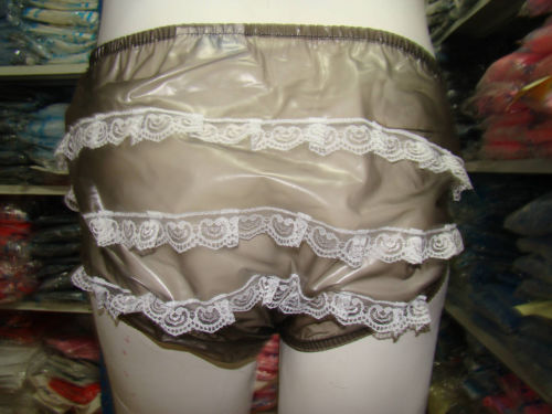 ADULT BABY diaper incontinence PLASTIC PANTS with Lace SLT-2T#,Size:M / L / XL(China (Mainland))