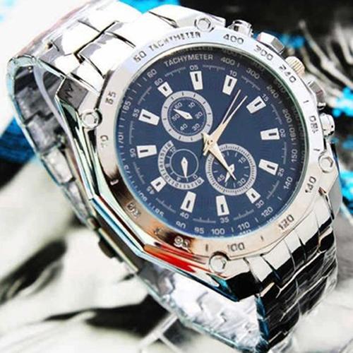 Hot Sale Luxury Fashion Men Stainless Steel Quartz Analog Hand Sport Wrist Watch Watches 13BO