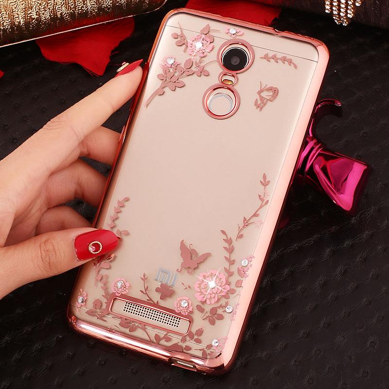 Xiaomi Redmi Note 2 Note 4 Redmi Note 3 Case Cute Bling Rhinestones Soft TPU Luxury Cover Xiomi Redmi Note 3 Pro 150mm