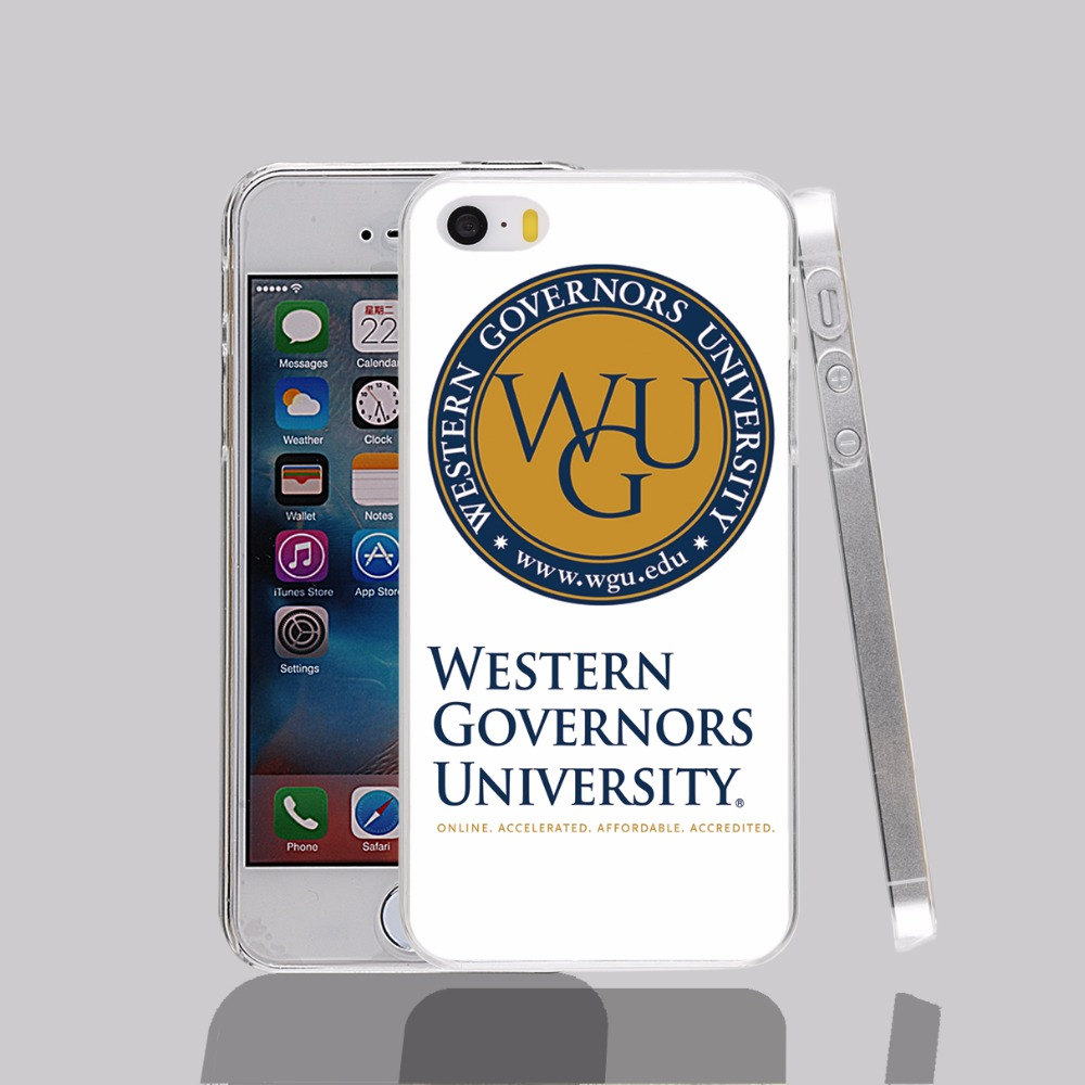 12478 Western Governors University transparent Cover cell phone Case for iPhone 4 4S 5 5S 5C 6 6S Plus 6SPlus(China (Mainland))