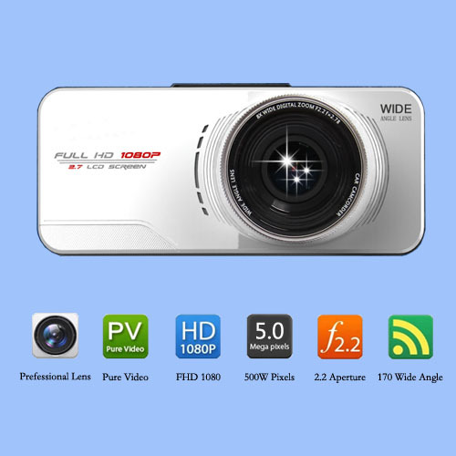 Original AT66 Car DVR Novatek 96650 1080P Full HD Camera WDR G-sensor 170 Degree Night Vision External GPS Tracker(China (Mainland))