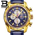 Switzerland watches men luxury brand Wristwatches BINGER Quartz watch Chronograph Diver glowwatch B1163 7