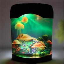 New jellyfish aquarium lamp jellyfish jellyfish decompression Nightlight special birthday gift new(China (Mainland))