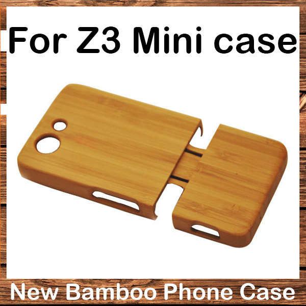 Hot sale Genuine Natural Real Bamboo Wood Wooden For Sony Z3 mini Cover case Hard Back Case for SONY Xperia Z3 Compact Z3 mini(China (Mainland))