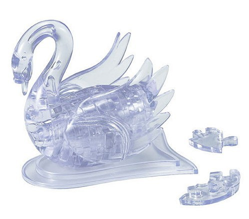 New Arrival 3D Crystal Puzzle Puzzles Swan Educational Toys Christmas Kid's Present New Year Gift(China (Mainland))