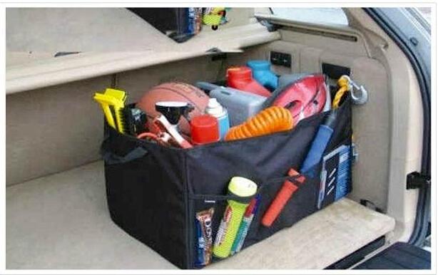 Car trunk storage bag Oxford Cloth folding truck storage box Car Trunk Tidy Bag Organizer Storage Box with cooler bag<br><br>Aliexpress