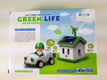 Free Shipping Funny Solar toy Let's Feel the Future Green Life Solar Rechargeable Kit!(China (Mainland))