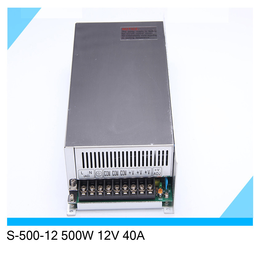 S-500-12 500W 12V 40A single output switching power supply<br><br>Aliexpress