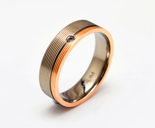 fit rose gold plated wedding ring for women men fashion jewelry band