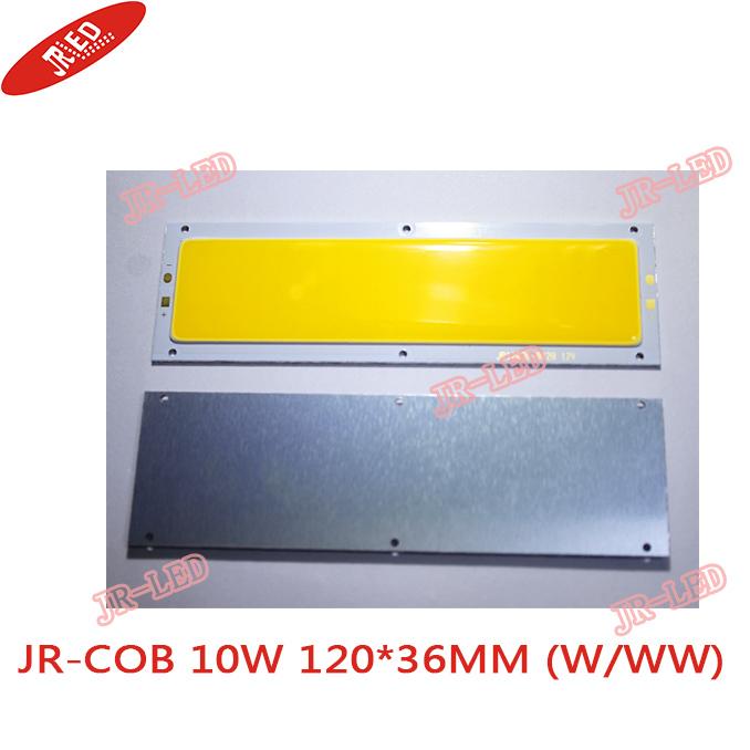 1pcs Big Promotion High Power 10W COB LED Strip Lamp Lights Bulb 1000LM Warm White Pure White For DIY 120x36MM DC12-14V(China (Mainland))