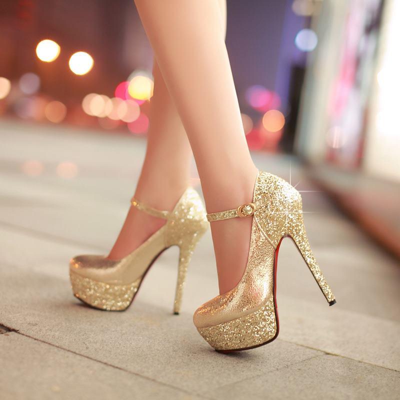 Online Get Cheap Gold Heel Pumps -Aliexpress.com | Alibaba Group