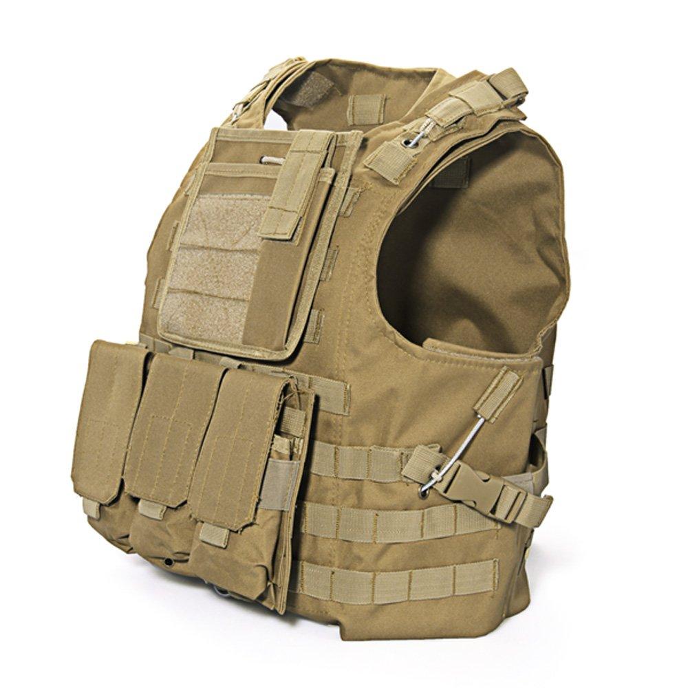 Гаджет  Botique Brown Nylon MOLLE Tactical Military Army Combat Paintball Vest None Безопасность и защита